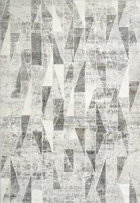 """Dynamic Louise Tur-35-Loui-wf Gray/Silver 3'11"""" X 5'7"""""""