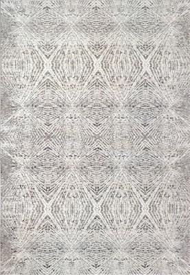 """Dynamic Louise Tur-4p-Loui-ds Gray/Silver 5'0"""" X 7'0"""""""