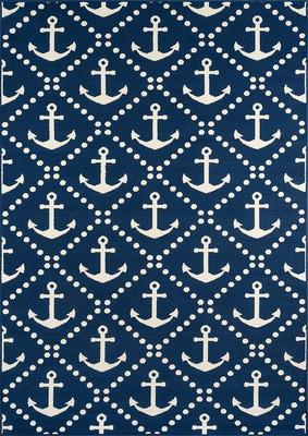 "Momeni Baja Baj16 Blue/Navy 3'11"" X 5'7"""
