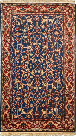 Hand Made India Mahal 3' x 5' Blue