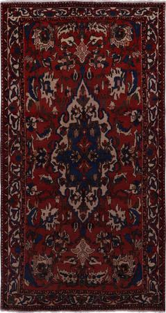 "Hand Knotted Iran Bakhtiari 5'2"" x 9'6"" Orange"