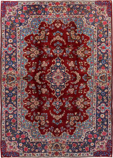 """Hand Knotted Iran Yazd 6'9"""" x 9'4"""" Red"""