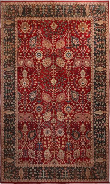 """Hand Made India Mahal 12' x 19'10"""" Red DK"""
