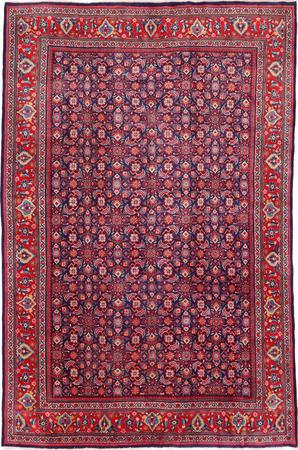 """Hand Knotted Iran Mahal 9'5"""" x 12'7"""" Blue DK"""