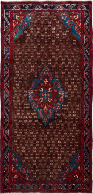 "Hand Knotted Iran Hamadan 5' x 10'3"" Brown"