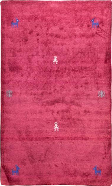 "Hand Knotted Iran Gabbeh 3' x 4'10"" Red"