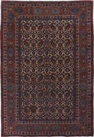 "Hand Knotted Iran Isfahan 6'9"" x 10'2"" Beige"