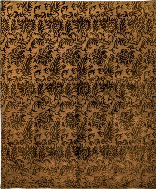 Hand Made Nepal Contemporary 8' x 10' Beige