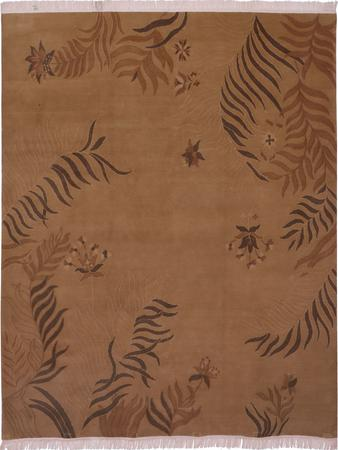"Hand Made India Mahal 8' x 9'6"" Tan"