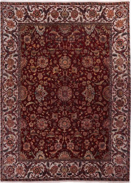 """Hand Made India Kashan 9'2"""" x 12'6"""" Red DK"""