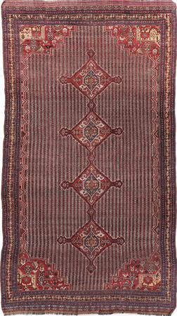 """Hand Knotted Iran Afshar 6'7"""" x 12' Brown"""