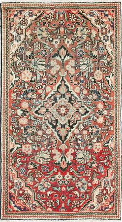 """Hand Knotted Iran Mahal 3'2"""" x 5'8"""" Red LT"""