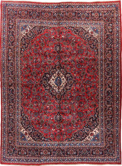 "Hand Knotted Iran Mashad 9'6"" x 12'6"" Red"