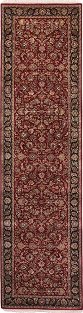 """Hand Made India Agra 2'8"""" x 9'10"""" Red DK"""