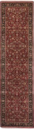 "Hand Made India Agra 2'8"" x 9'10"" Red DK Rug"