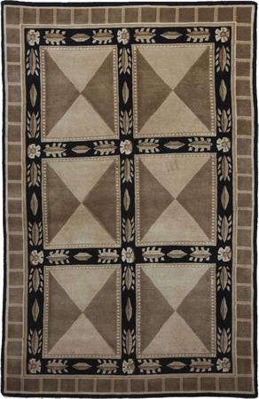"""Hand Made India Soofer 4' x 6'3"""" Brown LT"""