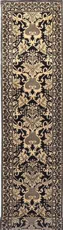 """Hand Made India Transitional 2'7"""" x 11'10"""" Black"""
