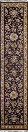 "Hand Made India Mahal 2'6"" x 11'10"" Purple DK"