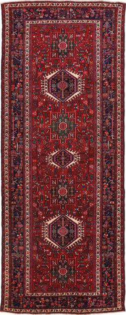 """Hand Knotted Iran Karaja 5' x 13'2"""" Red DK"""