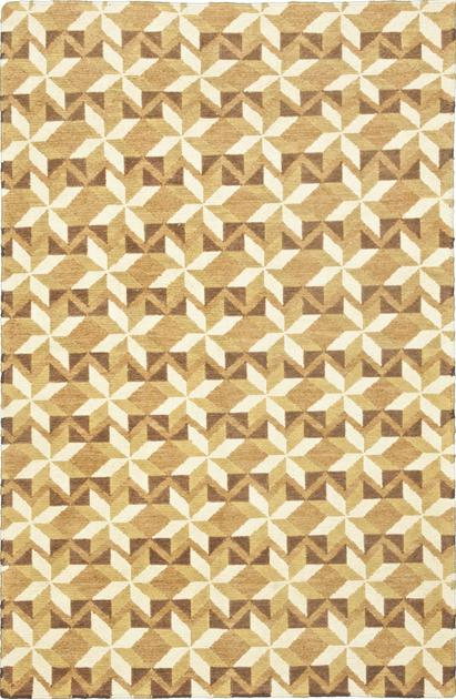 "Flat Weave India Orleans 3'9"" x 5'9"" Tan"