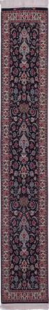 """Hand Knotted Iran Isfahan 2'2"""" x 9'7"""" Blue DK"""