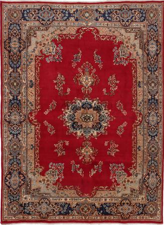 "Hand Made Iran Kerman 8' x 10'9"" Red"