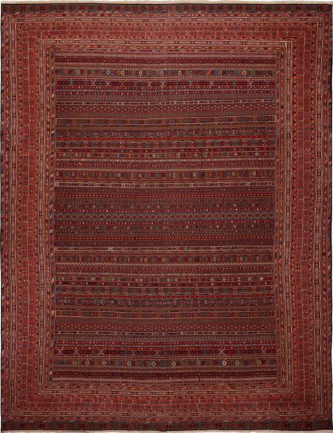 """Flat Weave Iran Soumak 12'3"""" x 19'6"""" Tan"""