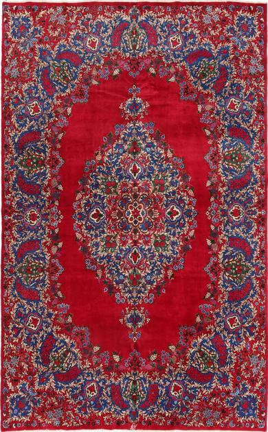 "Hand Knotted Iran Yazd 8'4"" x 13'2"" Red"