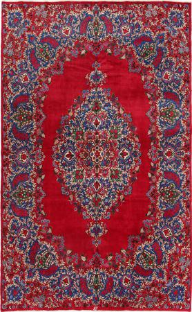"""Hand Knotted Iran Yazd 8'4"""" x 13'2"""" Red"""