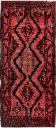 Hand Knotted Iran Hamadan 4' x 9' Red LT