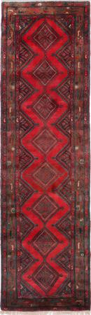 """Hand Knotted Iran Lillihan 2'8"""" x 9'6"""" Red"""