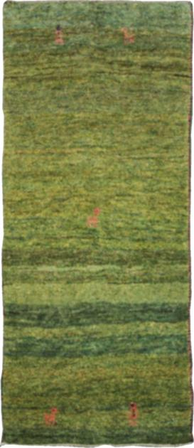 Hand Knotted Iran Gabbeh 3' x 6' Green