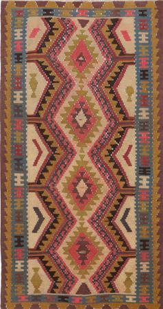 "Flat Weave Iran Kilim 2'11"" x 5'6"" Yellow"