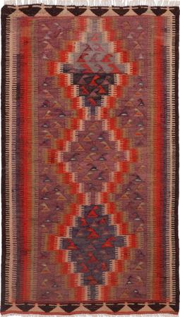 """Hand Knotted Iran Kilim 4'6"""" x 7'5"""" Orange"""