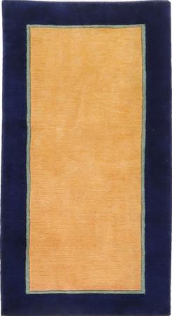 "Hand Made India Gabbeh 2'4"" x 4'5"" Yellow LT"