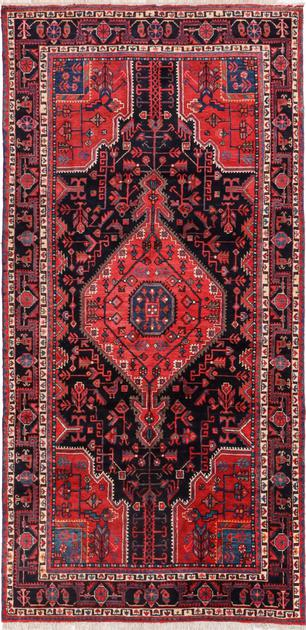 Hand Knotted Iran Nahavand 5' x 10' Black