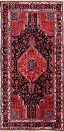 Hand Knotted Iran Nahavand 5' x 10' Black