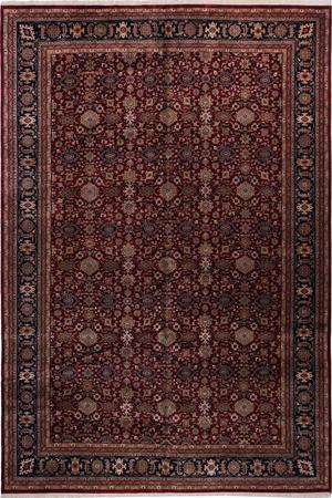 """Hand Made India Mahal 12' x 17'9"""" Red DK"""