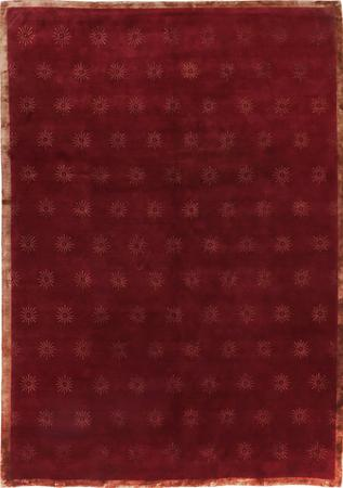 """Hand Knotted India Transitional 8'8"""" x 12'2"""" Red DK"""