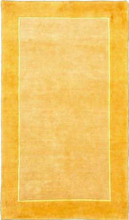 """Hand Knotted India Gabbeh 3' x 5'2"""" Yellow LT"""