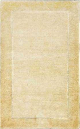"""Hand Knotted India Gabbeh 3'2"""" x 5' Yellow LT"""