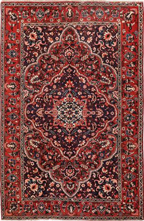 "Hand Knotted Iran Bakhtiari 6'8"" x 10'6"" Red DK"