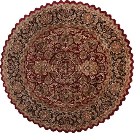 """Hand Made India Mahal 11'11"""" x 11'11"""" Red DK"""