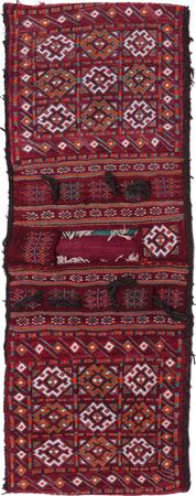 "Hand Made Iran Saddlebag 1'9"" x 4'9"" Red"