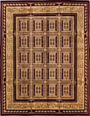 Hand Made India Art Deco 8' x 10' Red DK