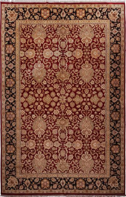 "Hand Made India Agra 12' x 18'2"" Red DK"