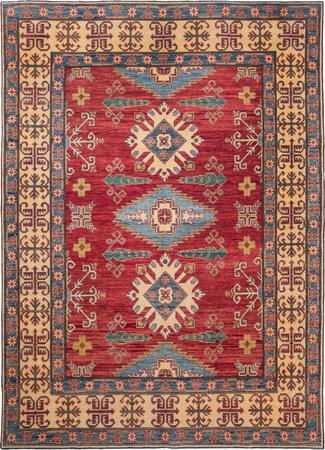"Hand Made Pakistan Super Kazak 7'3"" x 9'11"" Red"