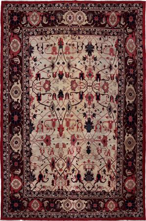 """Hand Knotted Iran Bakshaish 11'8"""" x 17'5"""" White"""