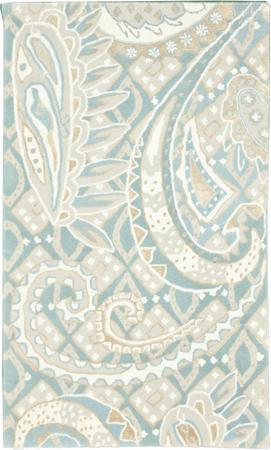 "Tufted India Contemporary 3'3"" x 5'3"" Blue LT"