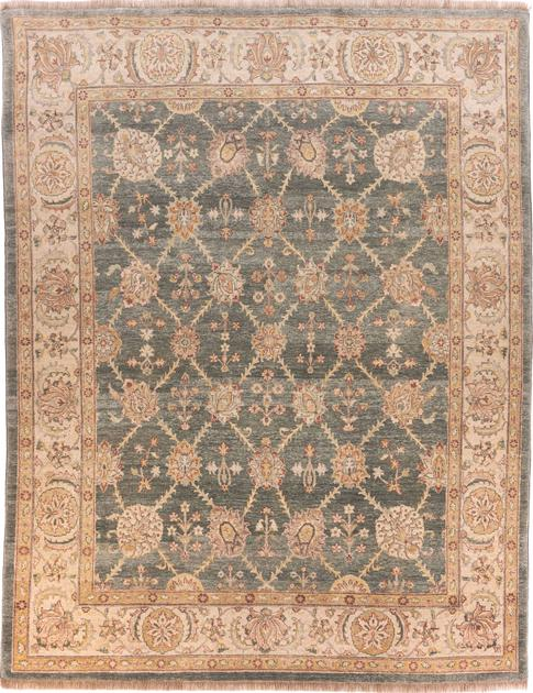 Hand Made India Kashan 8' x 10' Green
